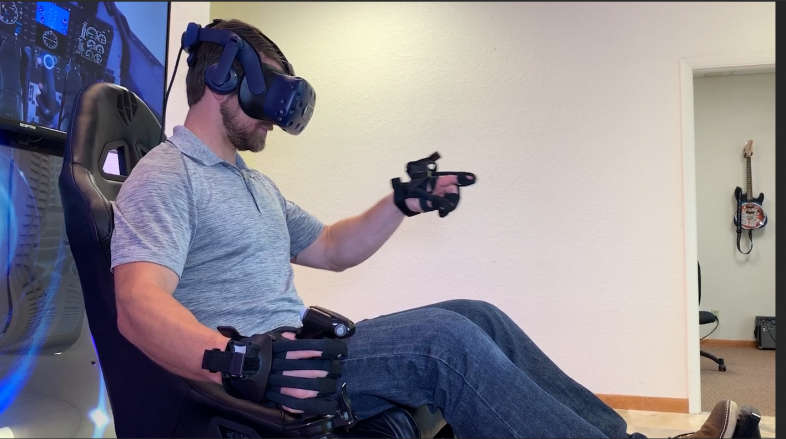 Full-motion Simulation with Haptic Gloves